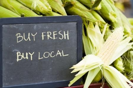 Buy fresh food locally