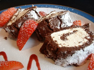 Valentines recipes - Chocolate roulade