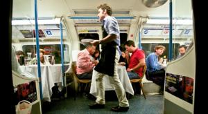 Dinner down the tube
