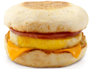 Egg McMuffins are made from real eggs