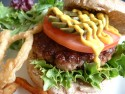 Recipes using onion rings - Homemade beefburgers
