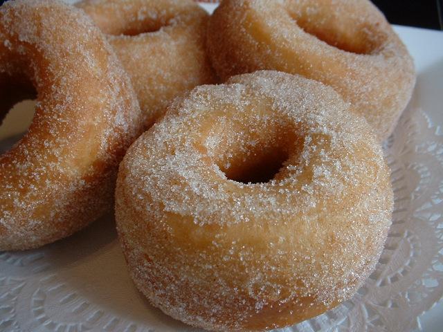 Hot ring doughnuts
