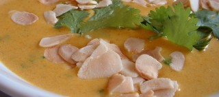 Korma and parsnip soup