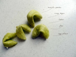 Matcha Fortune Cookies - 2