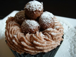 Valentines recipes - Nest of truffles cupcake