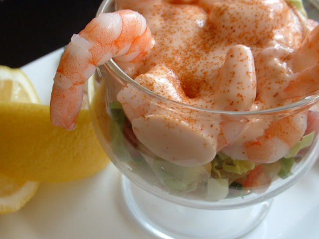 Prawn cocktail in a glass