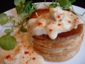 Pumpkin and chicken vol au vents