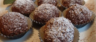 Rum and chocolate truffles