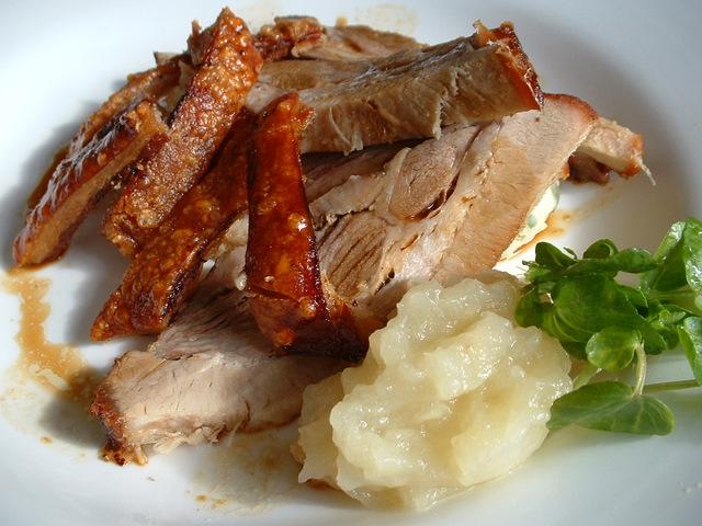 Slow roasted belly pork