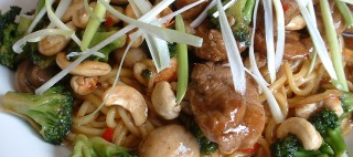 Stir fried duck