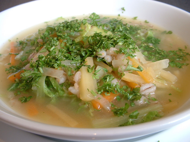 Vegetable broth soup