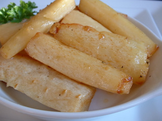 Parsnips glazed in honey